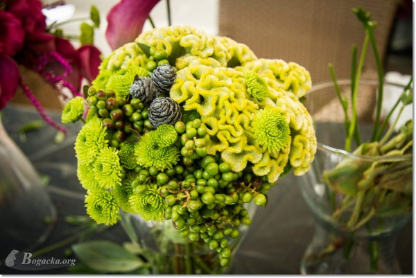 Ślub Magdy i Łukasza, 23.08.2014 – ozdoby z kwiatów